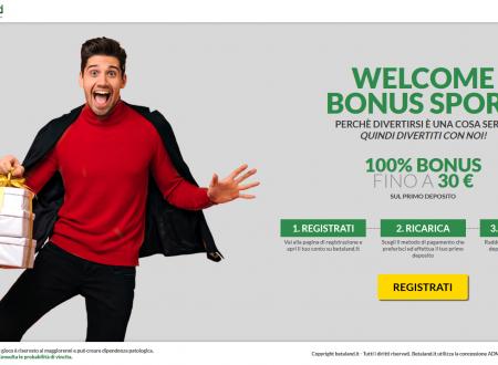 Bonus benvenuto del 100% su Betaland