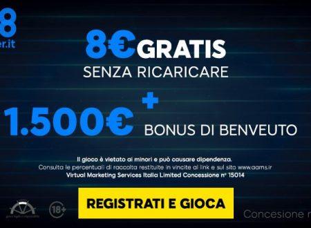 Bonus benvenuto 888 Poker