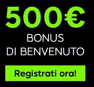 888 Casinò Bonus Benvenuto
