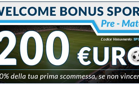 Bonus Benvenuto Sport di Betflag
