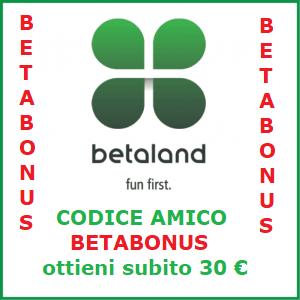 codici bonus Betaland