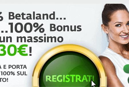 Torna il Bonus Benvenuto di Betaland