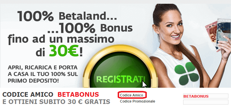 bonus betaland