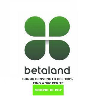 betaland bonus benvenuto