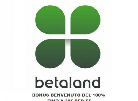 Betaland Bonus Benvenuto, Codici Promozionali
