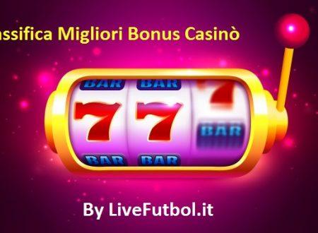 Migliori Bonus Benvenuto Slot